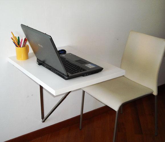 Come realizzare una scrivania a muro